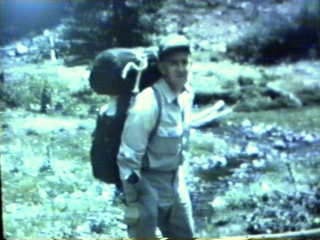 Picture of Fred Poppe taken at the 1966 Troop 80 Wilderness camp