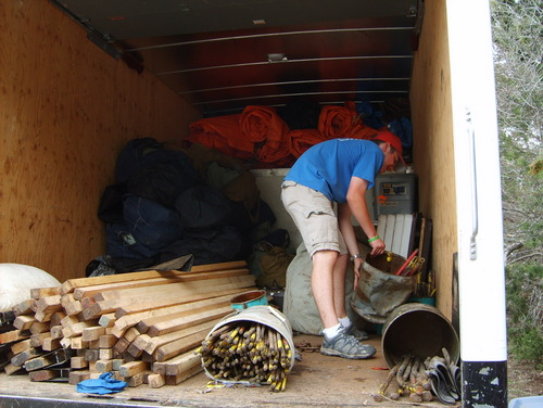 Fearless leader loading the truck.  Who knew an SPL could actually work?