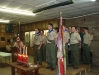 Stage full of Eagle Scouts