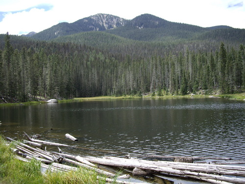 Stewart Lake – just above our campsite