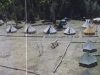 View from mountain side of camp