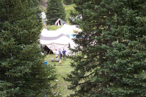 View of Kitchen Tent from the Road